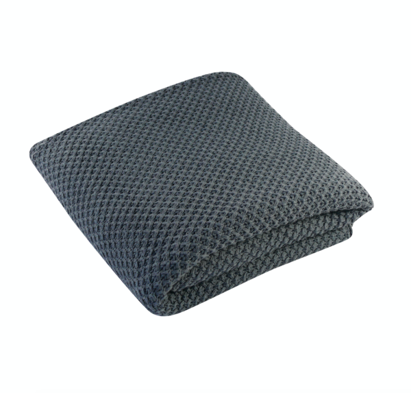 Charcoal Knit Throw