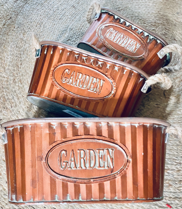 Oval Garden Pot Set