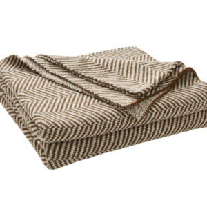 Solano Cotton Herringbone Knit Throw – Spice