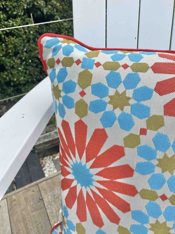 Mosaic Piped Outdoor Cushion