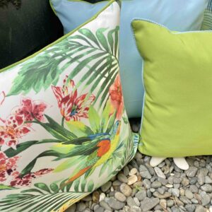 Parrot Print Outdoor Cushion with Tetron Inner