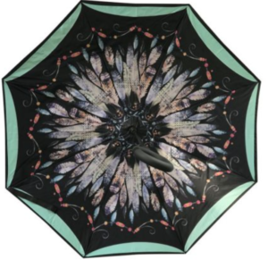 Inside Out Umbrella – Feathers